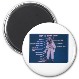 Deep Sea Diving Outfit Magnet