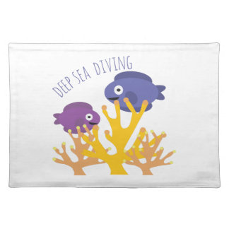 Deep Sea Diving Cloth Placemat