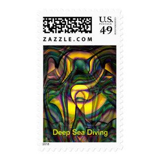 Deep Sea Diving Postage Stamp