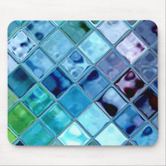 Deep Sea Dove Tile Mosaic Digital Art Mousepad