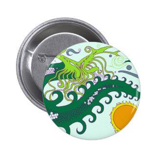 Deep sea Dragon badges (Green) Pinback Button