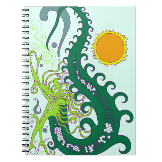 Deep Sea Dragon (Green) spiral notebook