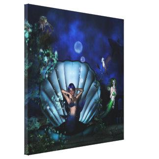 Deep Sea Dreaming Fantasy 3D Mermaid Art Canvas Print