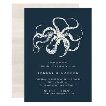 Beach Themed Deep Sea | Engagement Party Invitation