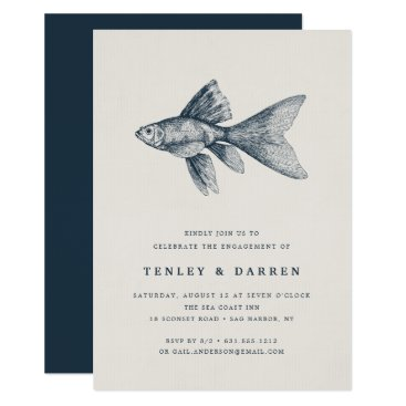 Beach Themed Deep Sea | Engagement Party Invitation