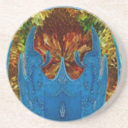 Deep Sea Exotic Flora Fauna - Graphic Imagination Coaster