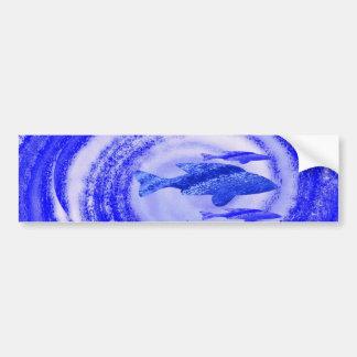 Deep Sea Fish Movement - Graphic Art Bumper Sticker