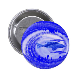 Deep Sea Fish Movement - Graphic Art Pinback Button