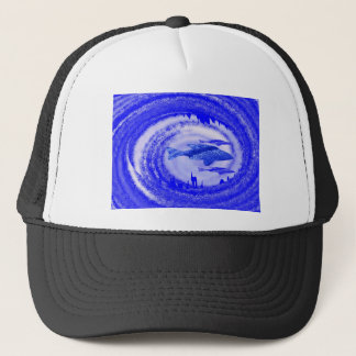 Deep Sea Fish Movement - Graphic Art Trucker Hat