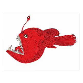 deep sea fish postcard