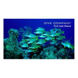 Deep sea fishes diving company business cards