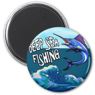 Deep Sea Fishing 2 Inch Round Magnet