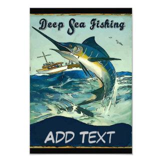 Deep Sea fishing, add text Card
