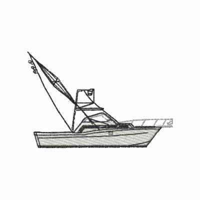 Deep-sea Fishing Boat Embroidered Hoody