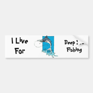 Deep Sea Fishing Car Bumper Sticker