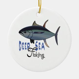 DEEP SEA FISHING CERAMIC ORNAMENT