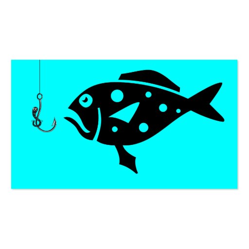 Deep Sea Fishing Charters_Giant Grouper & Worm Double-Sided Standard Business Cards (Pack Of 100)