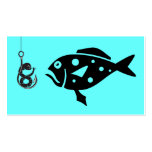 Deep Sea Fishing Charters_Grouper &,Fiesty Worm Double-Sided Standard Business Cards (Pack Of 100)