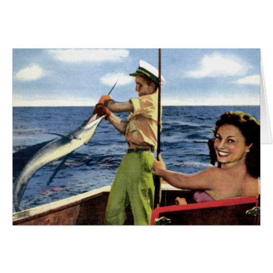 Deep Sea Fishing near Fort Lauderdale Florida Card