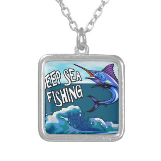 Deep Sea Fishing Silver Plated Necklace