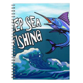 Deep Sea Fishing Spiral Notebook
