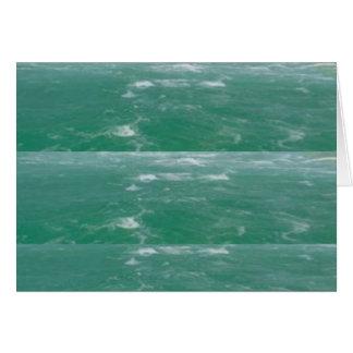 Deep Sea Green :  Wave Pattern Card