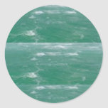 Deep Sea Green :  Wave Pattern Sticker