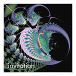 Deep Sea II · Fractal Art · Blue Custom Invitation