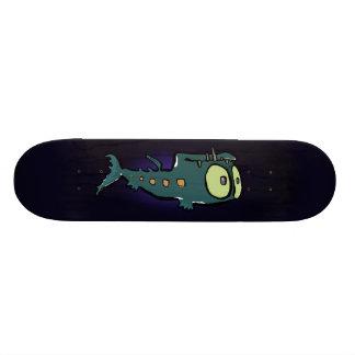 deep sea lantern fish skateboard deck