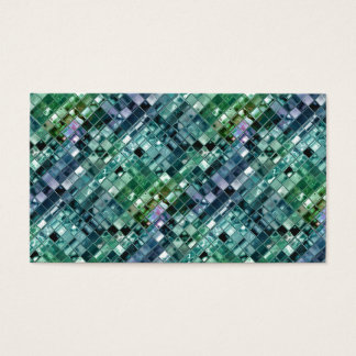 Deep Sea Liquid Mosaic Tile Art Business Card