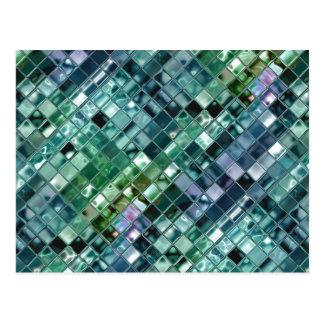 Deep Sea Liquid Mosaic Tile Art Postcard