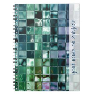Deep Sea Liquid Mosaic Tile Art Spiral Notebook