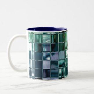 Deep Sea Liquid Mosaic Tile Art Two-Tone Coffee Mug