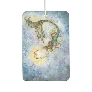 Deep Sea Moon Mermaid Fantasy Art Illustration Car Air Freshener