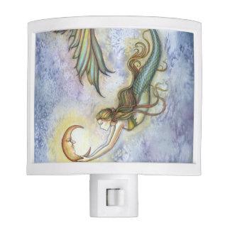 Deep Sea Moon Mermaid Fantasy Art Night Light