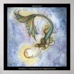 Deep Sea Moon Mermaid Poster Print