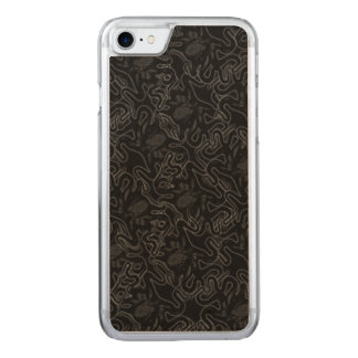 Deep Sea Octopus Black on Black Visual Effect Carved iPhone 7 Case
