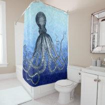 Deep Sea Octopus Shower Curtain