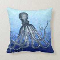 Deep Sea Octopus Throw Pillow