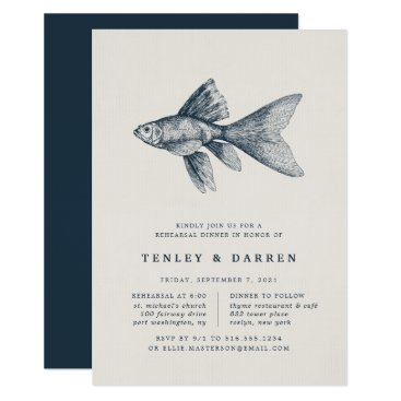 Beach Themed Deep Sea | Rehearsal Dinner Invitation