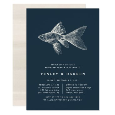 Beach Themed Deep Sea Rehearsal Dinner Invitation