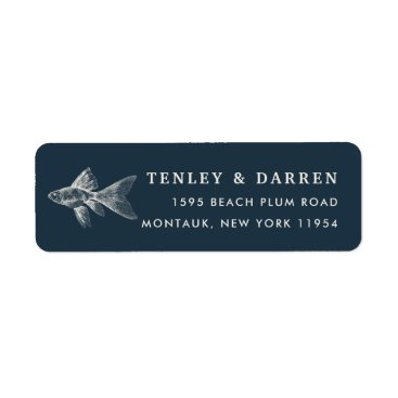 Beach Themed Deep Sea Return Address Label