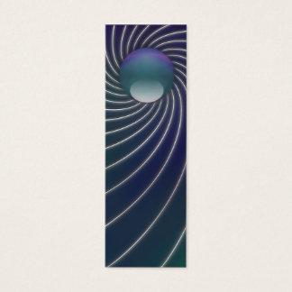 Deep Sea Spirals Bookmarks Mini Business Card