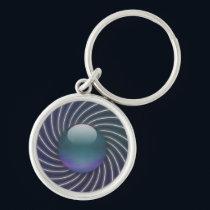 Deep Sea Spirals Keychain