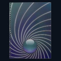 Deep Sea Spirals Notebook