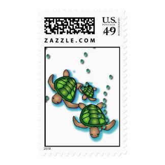 Deep Sea Turtles Postage