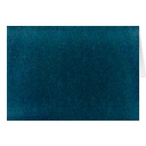 Deep Sea Watercolor - Dark Teal Blue and Aqua Card