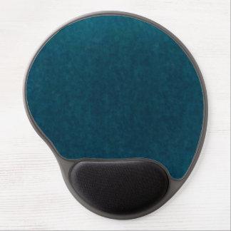 Deep Sea Watercolor - Dark Teal Blue and Aqua Gel Mouse Mat