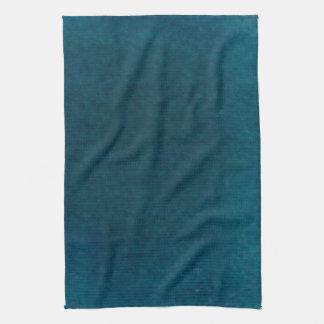 Deep Sea Watercolor - Dark Teal Blue and Aqua Hand Towel