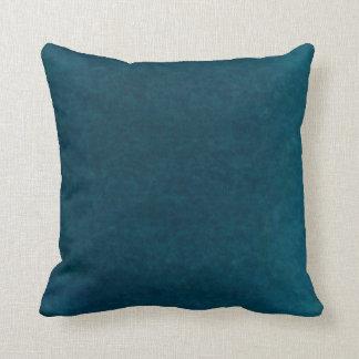 Deep Sea Watercolor - Dark Teal Blue and Aqua Throw Pillow